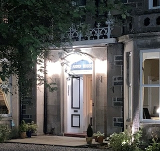 Arden House at night